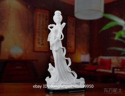 China Dehua White Porcelain Handwork Chinese Ancient Beauty Girl Lady Statue
