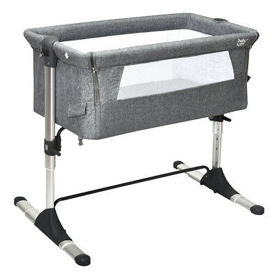 Portable Baby Bed Side Sleeper Infant Home Bassinet Crib W/Carrying Bag Grey