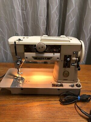 Singer 401A Slant-O-Matic Sewing Machine Serviced - Came Out Of Cabinet