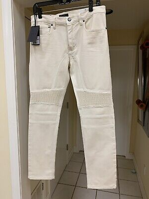 NEW $425 men INCOTEX 40 W RAY REGULAR FIT 5 POCKET JEANS PANTS WHITE COTTON