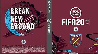 Fifa 20 West Ham cover for Xbox One X1 Game Sleeve Outer case insert The Hammers