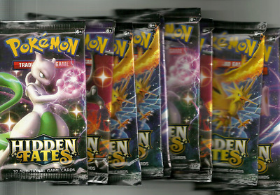 10x HIDDEN FATES Booster Packs x10 Pokemon TCG Collection Cards BRAND NEW SEALED