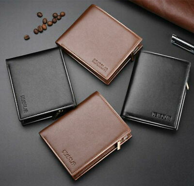 Fashion Cool Men Leather Wallet Coin Pocket Trifold Money Clip Purse Card Holder