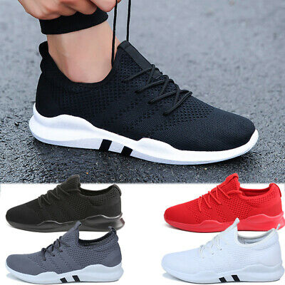 Men's Non Slip Sneakers Breathable Athletic Running Walking Tennis Shoes Workout
