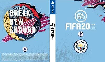 Fifa 20 PS4 Playstation 4 Game Custom Manchester Man City Outer Cover / Sleeve