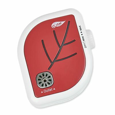 O3 LEAF Plug-In Adjustable Ionic Ozone Air Purifier (RED) Red