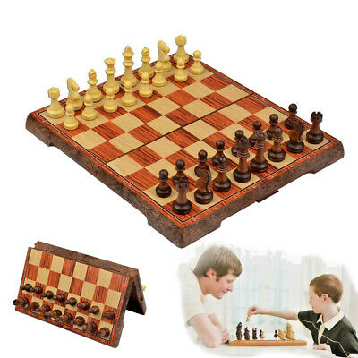 Large Folding Wooden Chess Set High Quality Standard Chess Travel Board Game