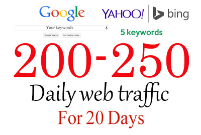 Drive Organic Keyword Country Targeted Low Bounce Web Traffic 300-350