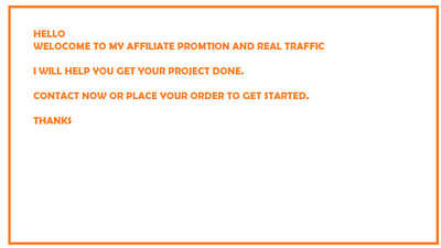Drive Traffic and Do Affiliate Promotion for Your Business Traffic for You