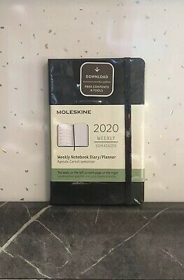 Moleskine 12 Months Agenda Weekly 2020 Hard Cover Black Small Pocket Brand New