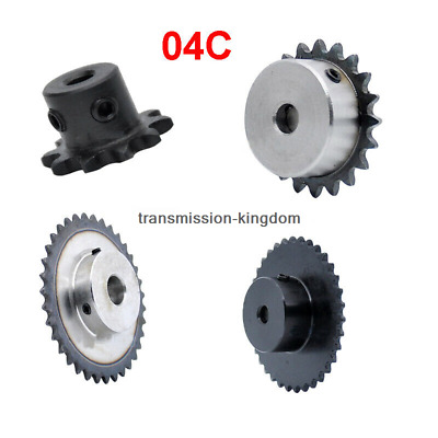 1Pcs 04C 10T-40T Chain Gear Bore 5-12mm Industrial Sprocket Wheel With Top Wire