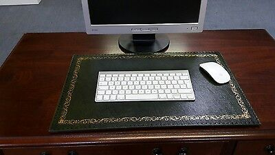 Leather Desk Mat/Pad Antique Finish