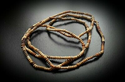 ANCIENT EGYPTIAN COPTIC TUBULAR BEAD NECKLACE - EARTHEN COLOURS 3rd - 5th A.D.