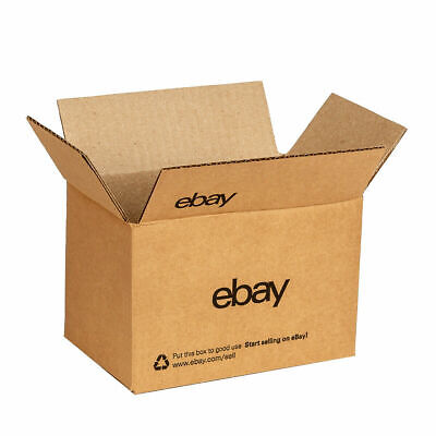 """100 eBay-Branded Boxes With Black Color Logo 8"""" x 6"""" x 4"""""""