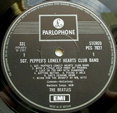 The Beatles - SGT Peppers UK 1969 Parlophone Stereo LP + Insert One EMI Box