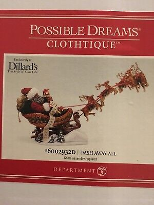 Possible Dreams Clothtique 2015 Reindeer Games #4046606 NIB FREE SHIP 48 STATES