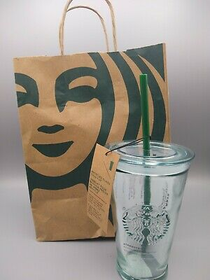 *NEW* Starbucks Recycled Glass, Grande 16oz Tumbler Made In Spain.Free Shipping!