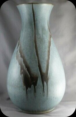 BMP Blue Mountain Pottery Slate Vase 13 1/2""
