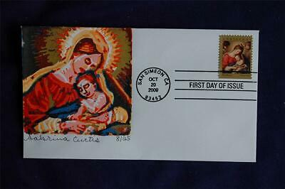 2009 Christmas Madonna & Child 44c Stamp FDC Curtis Cachet Sc#4424 CU96