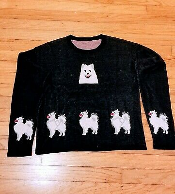 LADIES Samoyed Finnish Spitz American Eskimo sweater dog blouse new GoldenHorn