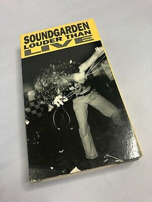 Soundgarden Louder Than Live Classic Rock VHS Tape w/ Case Chris Cornell 1990