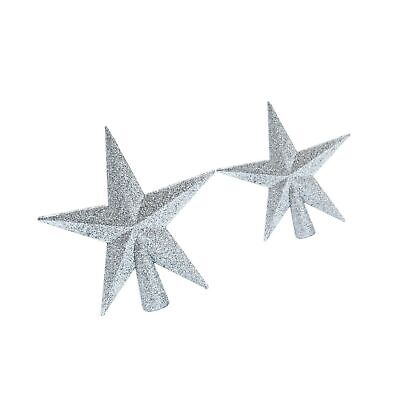 Aneco 2 Pack Glittered Christmas Tree Topper Star Treetop for Christmas Tree ...