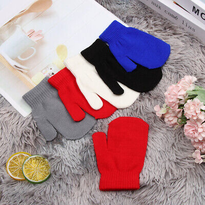Warm Lovely Childrens Kids Full Finger Mittens Winter Glove Rope Knitted Gloves