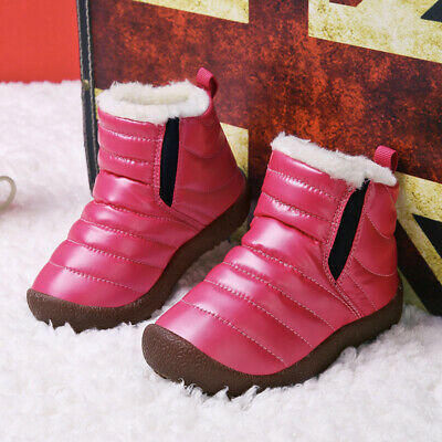 Cat /& Jack Boys' Youth Size 6 Neko Double Strap Cold Weather Winter Boots Black