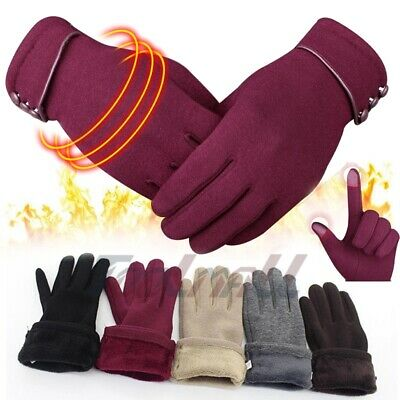 Women Winter Gloves Touch Screen Gloves for Phones Warm Thick Fleece Mittens US