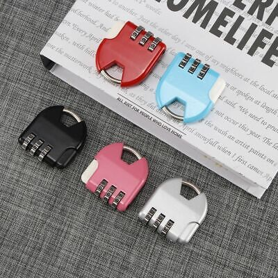 Mini Padlock Dial Digit Combination Suitcase Luggage Security Password Code Kit