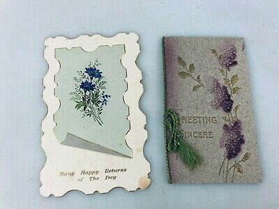 Vintage Greeting Cards - 1 Not Used - Early 1900'S - Christmas & Birthday