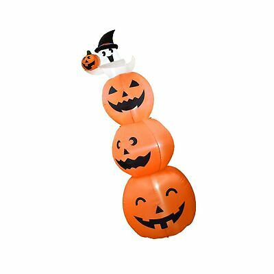 Dreamone 8 Foot Halloween Inflatables Pumpkin with Cute Ghost for Halloween I...