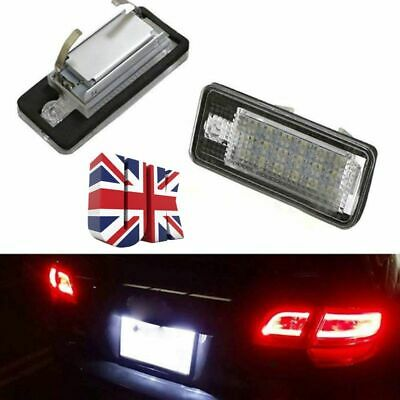 2 PCS LED License Plate Light Audi A4 8E B6 B7 A3 8P A6 4F Q7 Number Plate Light