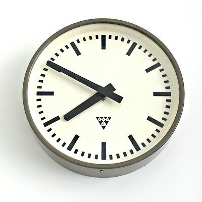 metal wall clock PRAGOTRON - Factory Railway School - vintage retro loft design