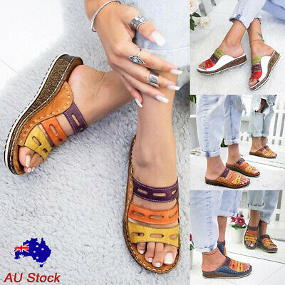 Women Platform Wedge Heel Slippers Ladies Casual Hollow Out Comfy Sandals Shoes