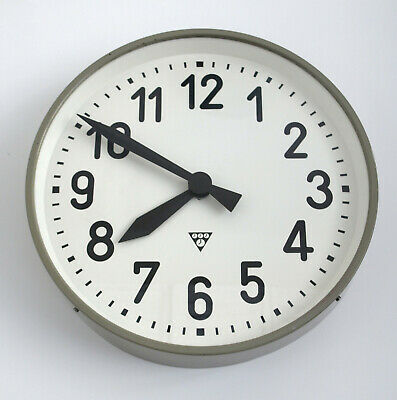 XL metal wall clock PRAGOTRON - metal industrial vintage Factory/School clock