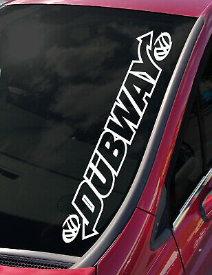 DUBBER IRON CROSS car sticker red  old school dub vw 85mm