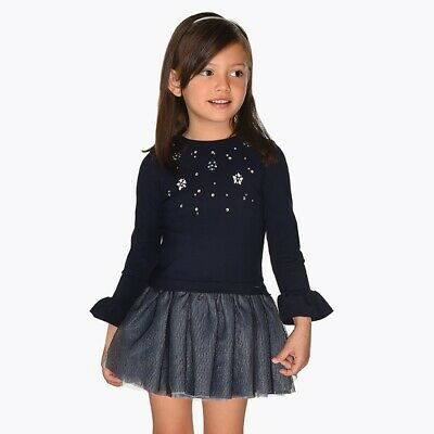 New Mayoral Girls combined dress with bead, Age 2 years (4934)