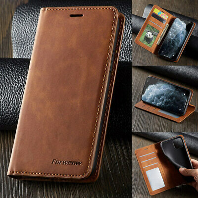 Leather Magnet Stand Flip Wallet Case For Apple iPhone 11 Card Pure Matte Cover