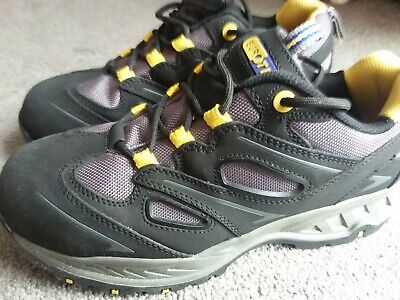 Eurotec 715NMP Black Nubuck Leather Mesh Safety Work Trainers Composite Toe Cap