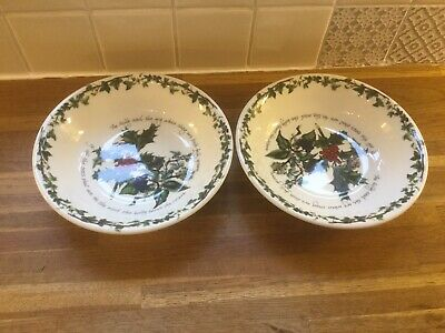 Portmeirion -  Holly & The Ivy Pasta Bowls x 2 - BRAND NEW