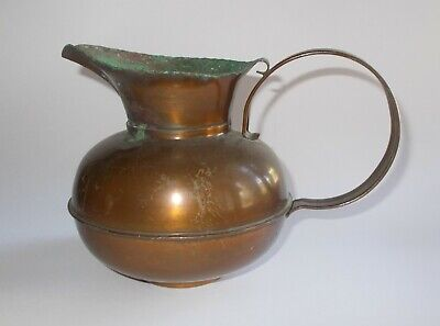 Vintage Craftsman Copper Pitcher #303-Hand Crafted-GREAT Patina-Lg Handles-#1
