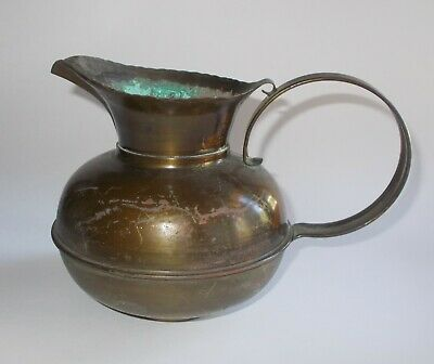 Vintage Craftsman Copper Pitcher #303-Hand Crafted-GREAT Patina-Lg Handles-#2