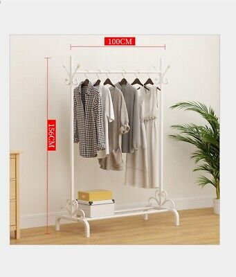 Heavy Duty Metal Clothes Rail Storage Garment Shelf Display Hanging Stand Rack