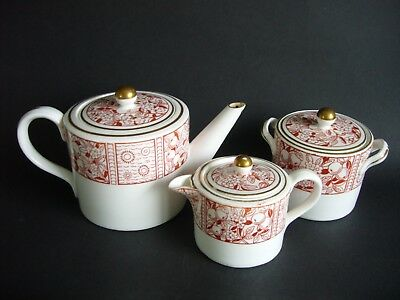 Antique Victorian Wedgwood Aesthetic Movement Tea Set c1878 Teapot Sugar Creamer