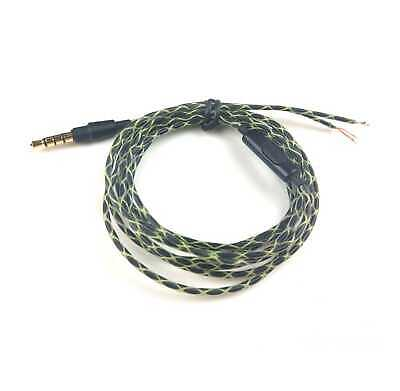 For QC25 Headphones Replacement Audio Cable Wire Cord w//Mic ComfortTEUS