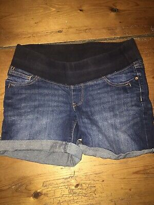 Next Maternity Under Bump Denim Shorts 10