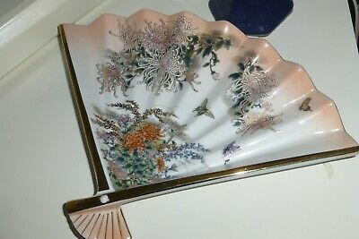 Japanese Flower design China Dish (Fan Shaped) M&S  Mint Condition