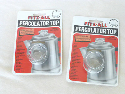 Replacement Percolator Top Glass Fitz All Lot of 2