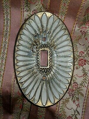 Vintage Oval Ornate Light Switch Cover Plate Shabby Chic Art Deco